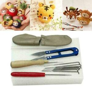 Needle-Felting-Starter-Felt-Tools-Kit-Mat-Scissors-S7O5-Accessories-Needle-E1J9