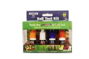 60 Pack Garland Garden Soil pH Test Testing Quality Check Kit