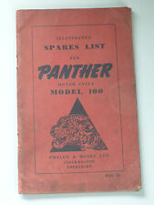 Panther Modelo 100 Motor ciclo Ilustrado lista de piezas de repuesto (junio 1951)
