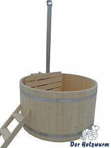 Badebottiche Holz Badetonne Pool Outdoor Hot Tub Whirlpool incl ...