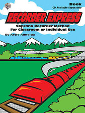 Recorder Express Method For Classroom Learn to Play Beginner Lesson Music Book