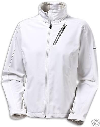 Columbia TITANIUM Damen Outdoor Softshelljacke Jacke langarm weiß Gr. S 36 NEU
