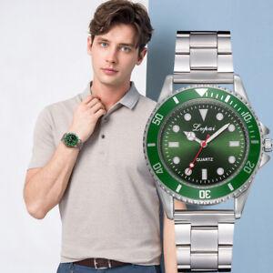 LVPAI-Herren-Mode-Luxus-Uhr-Laessig-Stahl-Guertel-Quarz-Uhr-Analog-Armbanduhren