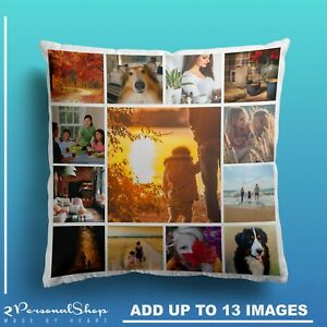 Personalised-Photo-Pillowcase-Cushion-Pillow-Case-Cover-Custom-Gift-up-to-13-pic