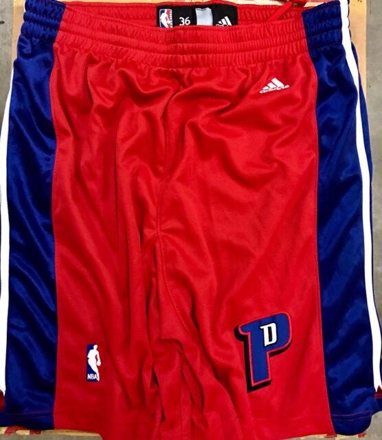 adidas Authentic NBA Shorts Pistons Team Red Alternate Sz 36 for ... 0eff00784