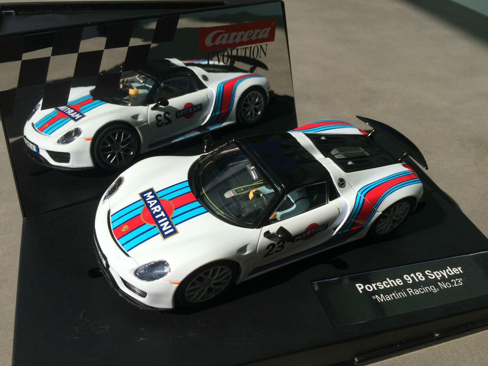 Carrera Evolution 27467 Porsche 918 Spyder   Martini Racing, no. 23   NIP