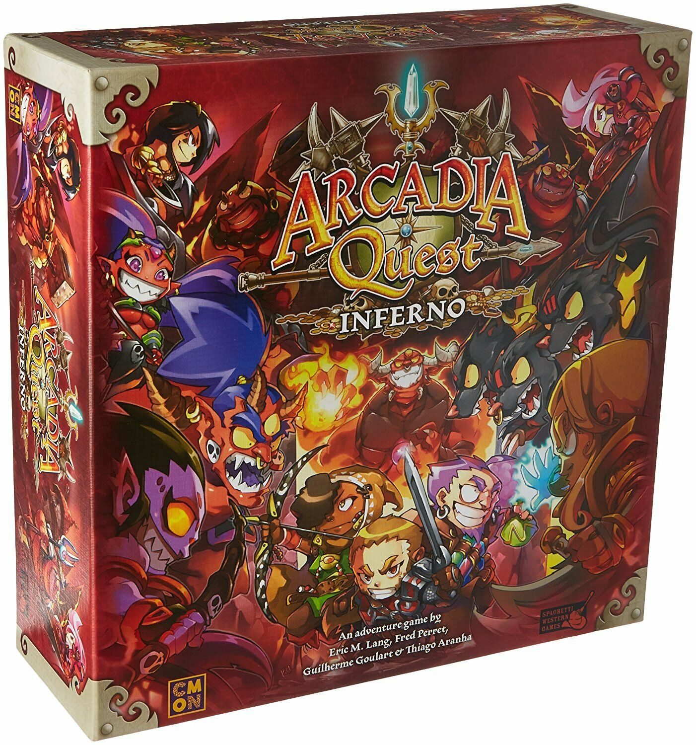 Arcadia Quest  Inferno [Board Game, Cool Mini or Not CMON, Miniatures] NEW