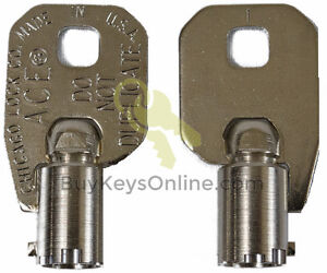 6330-Key-Chicago-Lock-ACE-Tubular-Barrel-NEW-PRECUT-FACTORY-CUT-SHIPS-FAST