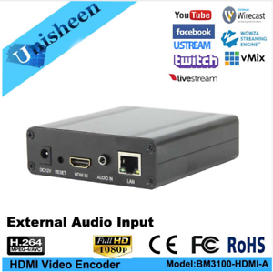 Details about H 264 Video Encoder with EXT Audio Facebook broadcast rtsp  IPTV Live Streaming