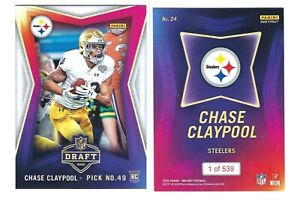 2020-Panini-Instant-NFL-Draft-RC-Chase-Claypool-ROOKIE-Football-Card-SP-539
