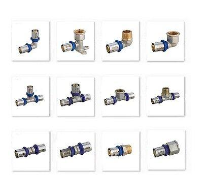 Emmeti Pressfittings für Mehrschichtverbundrohr alle Formteile 16 - 32mm DVGW