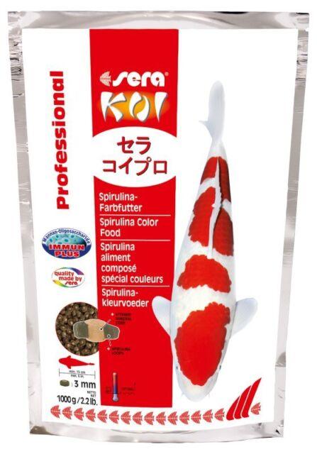 Sera KOI Professional Spirulina 1000g Mangime per i Colori LAGHETTO