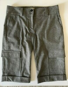 Burberry-London-Womens-Gray-Cargo-Bermuda-Shorts-size-6