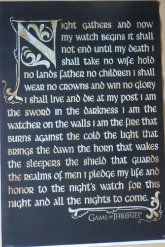 Poster-Laminated available-91cm x 61cm-Brand New Oath Game of Thrones