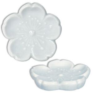 4-PCS-Japanese-Ceramic-White-Sakura-Cherry-Blossom-Chopstick-Rest-Made-in-Japan