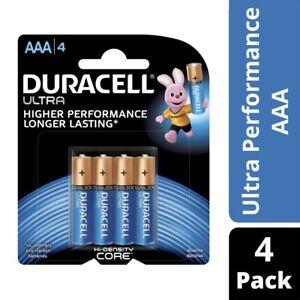 Duracell Ultra Performance AAA Alkaline Batteries 4 pack
