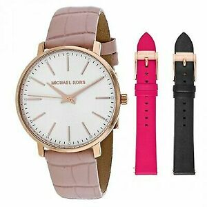 b32f5ee53cf5 Michael Kors Women s Pyper 38mm Leather Band Steel Case Quartz Watch MK2775