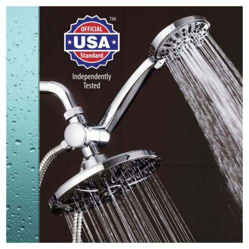 "AquaDance 7/"" Premium High Pressure 3-way Rainfall Shower Head Handheld Combo"
