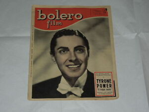 BOLERO FILM DEL 1 FEBBRAIO 1948-TYRONE POWER-MARGA JOYCE, IRENE D'ASFREA, IRMA S - Italia - BOLERO FILM DEL 1 FEBBRAIO 1948-TYRONE POWER-MARGA JOYCE, IRENE D'ASFREA, IRMA S - Italia
