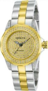 Invicta 14522 Pro Diver 0.95 ctw Diamond Pave Stainless Steel Womens Watch