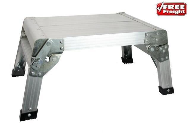 Folding Step Stool Lightweight Compact Non-Slip Folds Flat For Caravan Motorhome