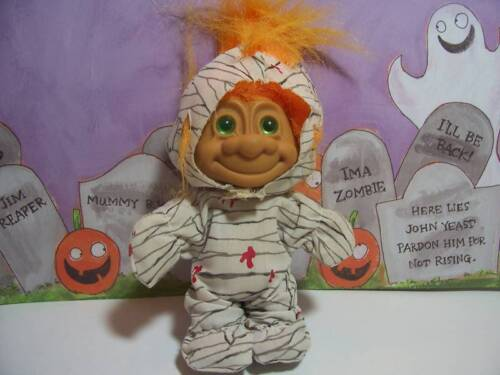 "NEW IN ORIGINAL WRAPPER HALLOWEEN MUMMY 5/"" Russ Troll Doll"