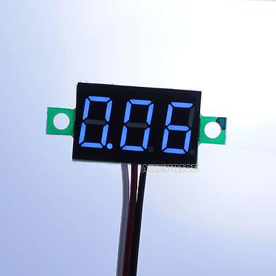 DC 0-30V Blue LED Display Digital Voltage Voltmeter Panel Motor Motorcycle