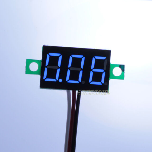 DC 0-30V Blue LED Display Digital Voltage Voltmeter Panel Motor Motorcycle