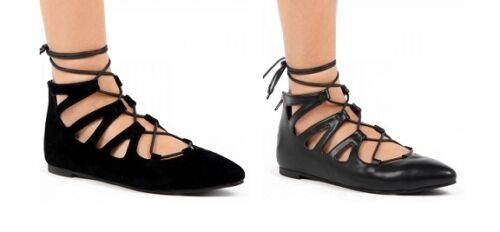 WOMENS LADIES LACE UP GLADIATOR GHILLE POINTED TOE FLAT ANKLE SHOES  FGH1