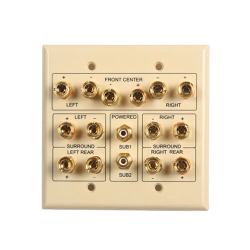 Ivory 7.2 Surround Sound Home Theater Wall Plate