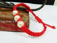 Feng Shui Chinese Oriental LUCKY Faux Pearl Charm Thread Adjustable Bracelet