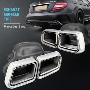 Details about Exhaust Tips Muffler End Fit for Benz E-Class W212 W204 W216  W218 W219 W207 AMG