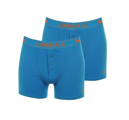 2x LONSDALE S01 Boxershorts Knöpfe Trunk Unterhose Shorts S M L XL XXL 3XL 4XL
