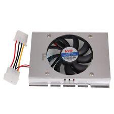 "3.5"" HDD Hard Disk Drive Cooler Cooling 12VDC Fan Heatsink + 4 Screws"