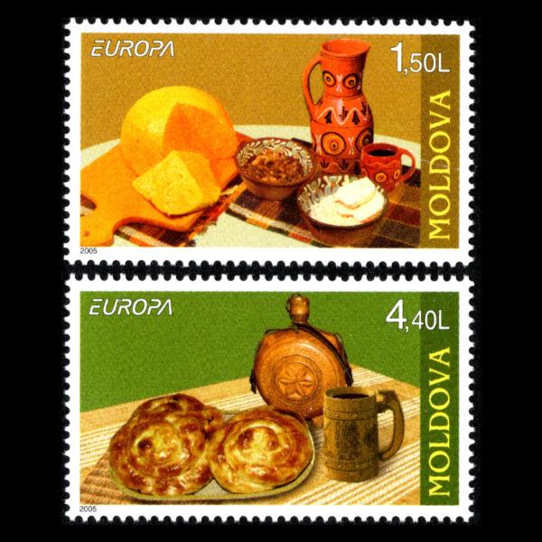 Moldova 2005-europa Timbres-gastronomie-sc 490/1 Neuf Sans Charnière Sang Nourrissant Et Esprit RéGulateur