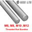 M8 STUD BAR THREADED ROD CUT TO SIZE LARGE THREAD M6 M10 ELECTRICAL MECH ROD