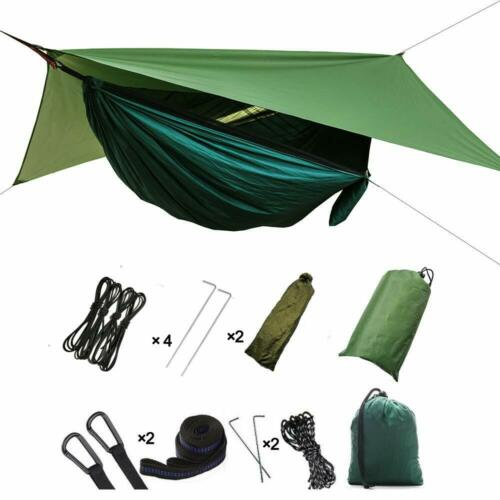 3In1 2 Person Camping Hammock Tent Hiking Travel Outdoor Swing Portable