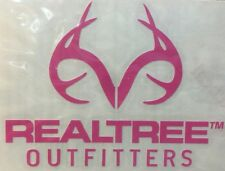 Realtree Real Tree Pink Vinyl Decal Car Truck Window Helmet Sticker Girl Antler