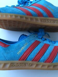 Aparentemente Banzai impactante  Adidas Hamburg Blue/Red Size UK 8 | eBay