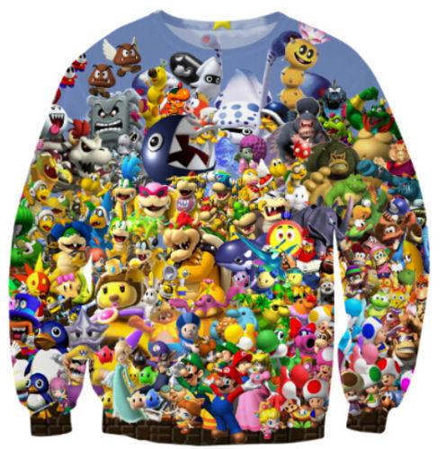 Fashion Mens//Womens Super Mario Party Drinking Game Sweatshirt Hoodies FZ50