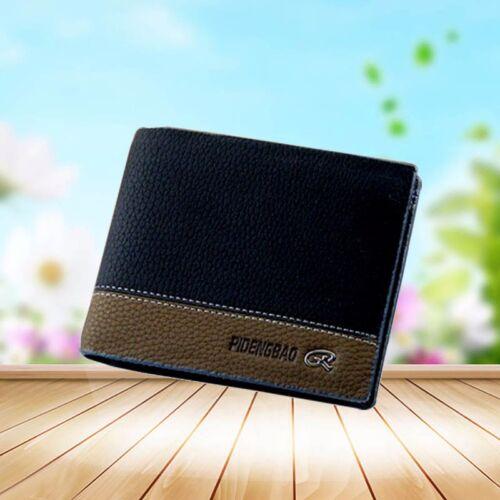 Men/'s Leather Business Wallet Pocket Card Clutch Bifold Money Slim Purse Hot