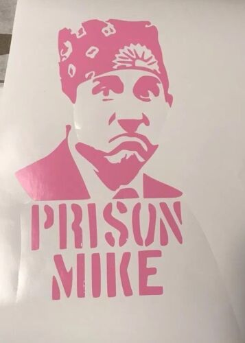 Prison Mike silhouette vinyl decal sticker The Office Dunder Mifflin