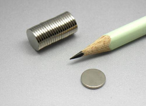 versch Neodym-Supermagnete  Scheiben u Würfel 1 mm Dicke Größen vernickelt