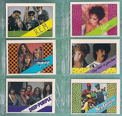 15 Bon Jovi 1985 Wonder Bread Rock Stars Set In Cello Packs Bryan Adams Etc.