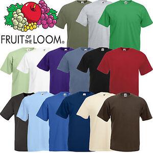 FRUIT-OF-THE-LOOM-style-Uni-T-shirt-Qualite-de-marque-Hommes-Vetements