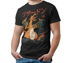 Unofficial-Pokemon-T-Shirt-CHARIZARD-Kaiju-Giant-Monster-T-Shirt-Kids-amp-Adult