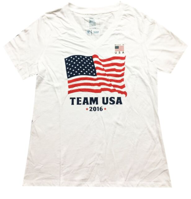 1a330872317 Team USA Apparel Mens Olimpic T-shirt White XL Olympics Fan ...