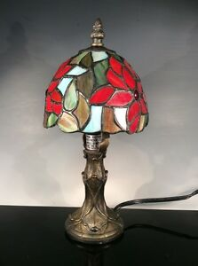 beautiful vintage tiffany style stained glass lamp ebay. Black Bedroom Furniture Sets. Home Design Ideas