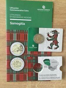 Lithuania 2 € EURO 2015 BU COINCARD