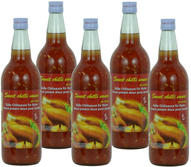 (3,35€/l) Süsse Chilisauce 5 x 740ml Sweet Chili Chicken Sauce - Flying Goose